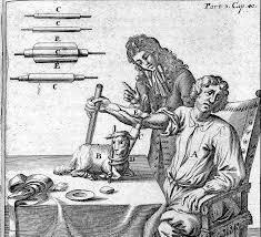 Primeira transfusão de sangue da história